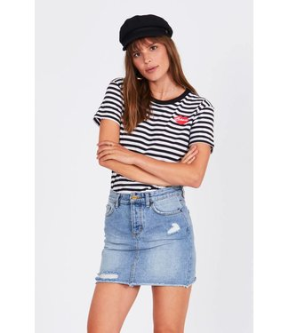 Amuse Society Besos Short Sleeve Striped Tee
