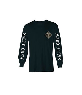 Salty Crew Tippet Cover Up Black Long Sleeve Tee