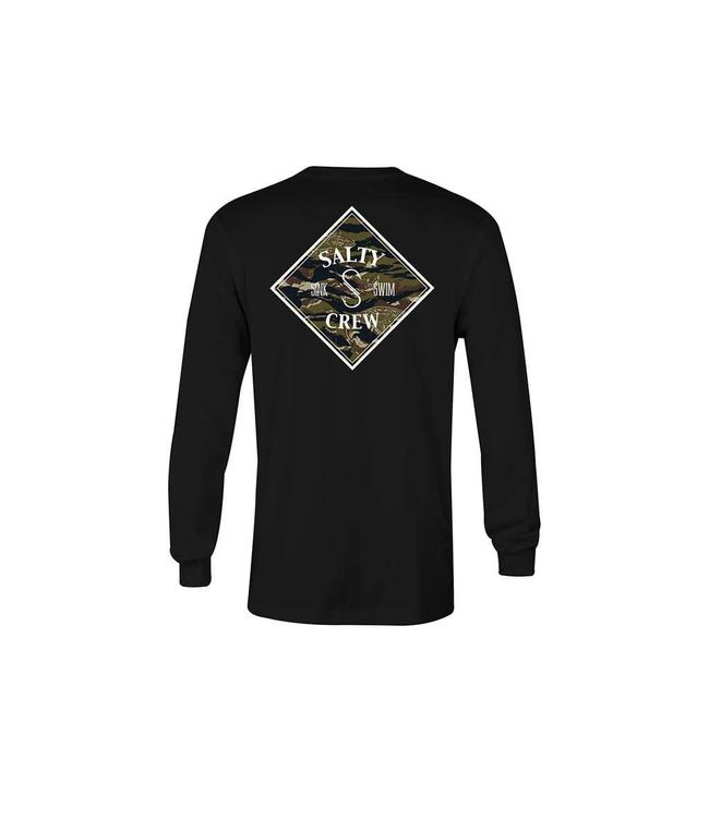 new arrival 99502 51785 Salty Crew Tippet Cover Up Black Long Sleeve Tee
