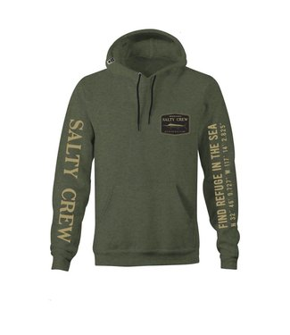 Salty Crew Stealth Army Heather Hood Fleece
