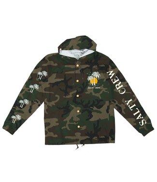Salty Crew Twin Palms Camo Snap Jacket