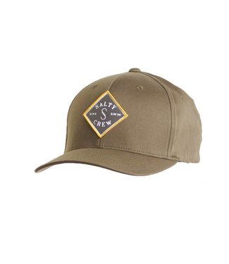 Salty Crew Tippet Stamped 6 Panel Olive Hat