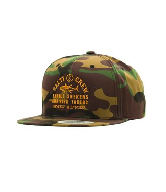 Salty Crew Fish Market 6 Panel Camo Hat