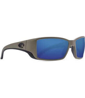Costa Del Mar Blackfin Moss 580G Blue Mirror Sunglasses