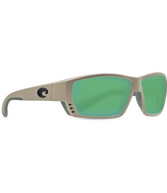 Costa Del Mar Tuna Alley Sand 580G Green Mirror Sunglasses
