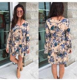 Floral Dress - Blue