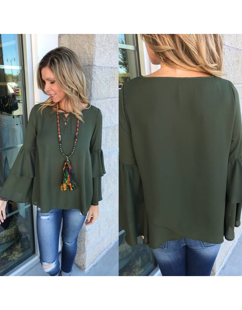 Strappy Detail Top - Olive