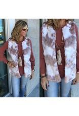Faux Fur Vest - Blush