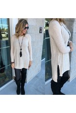Hi/Low Sweater Tunic - Oatmeal