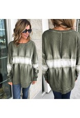 Dip Dye French Terry Tunic - Military