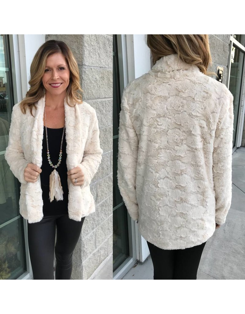 Faux Fur Jacket - Natural