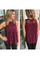 Lace Top - Burgundy