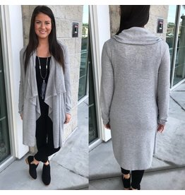 EESOME Draped Cardigan - H.Grey
