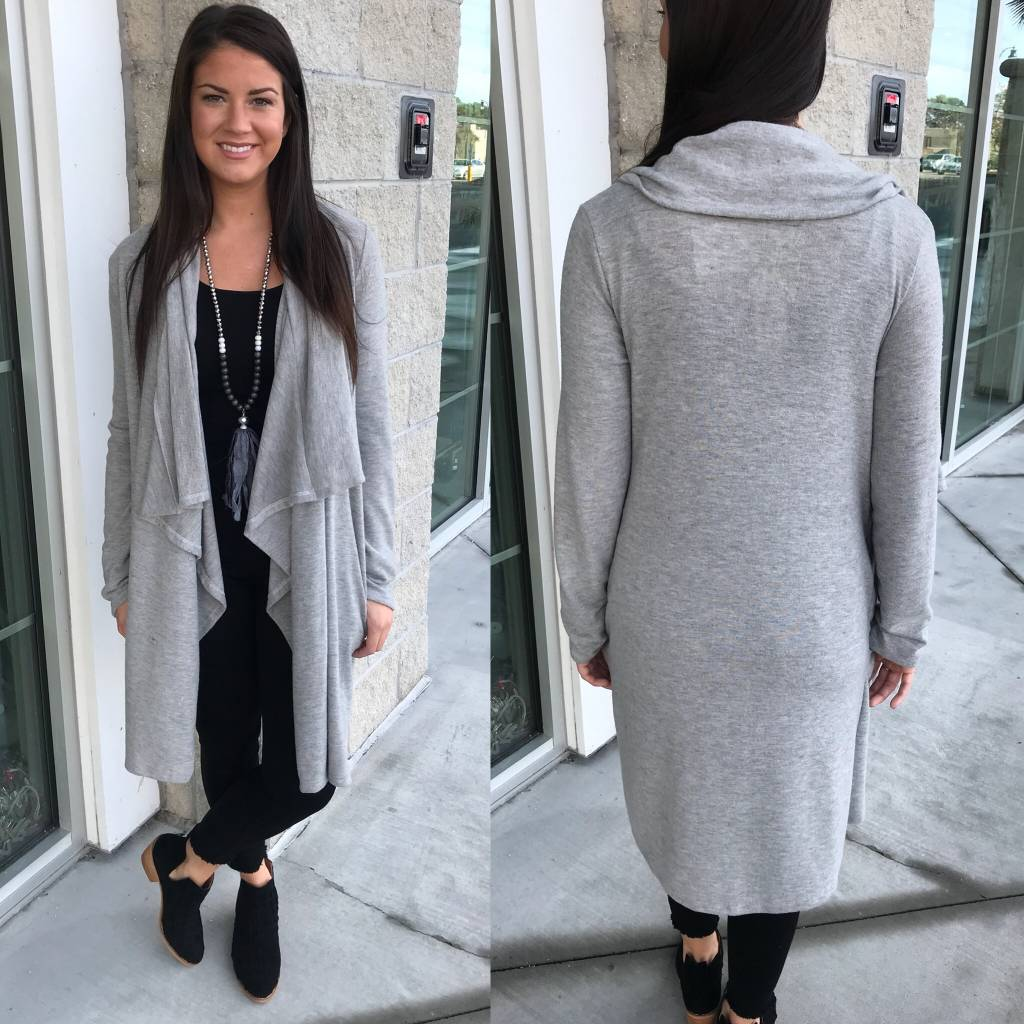 Draped Cardigan - H.Grey