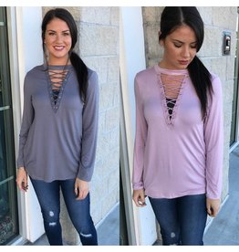 Lace Up Detail Top