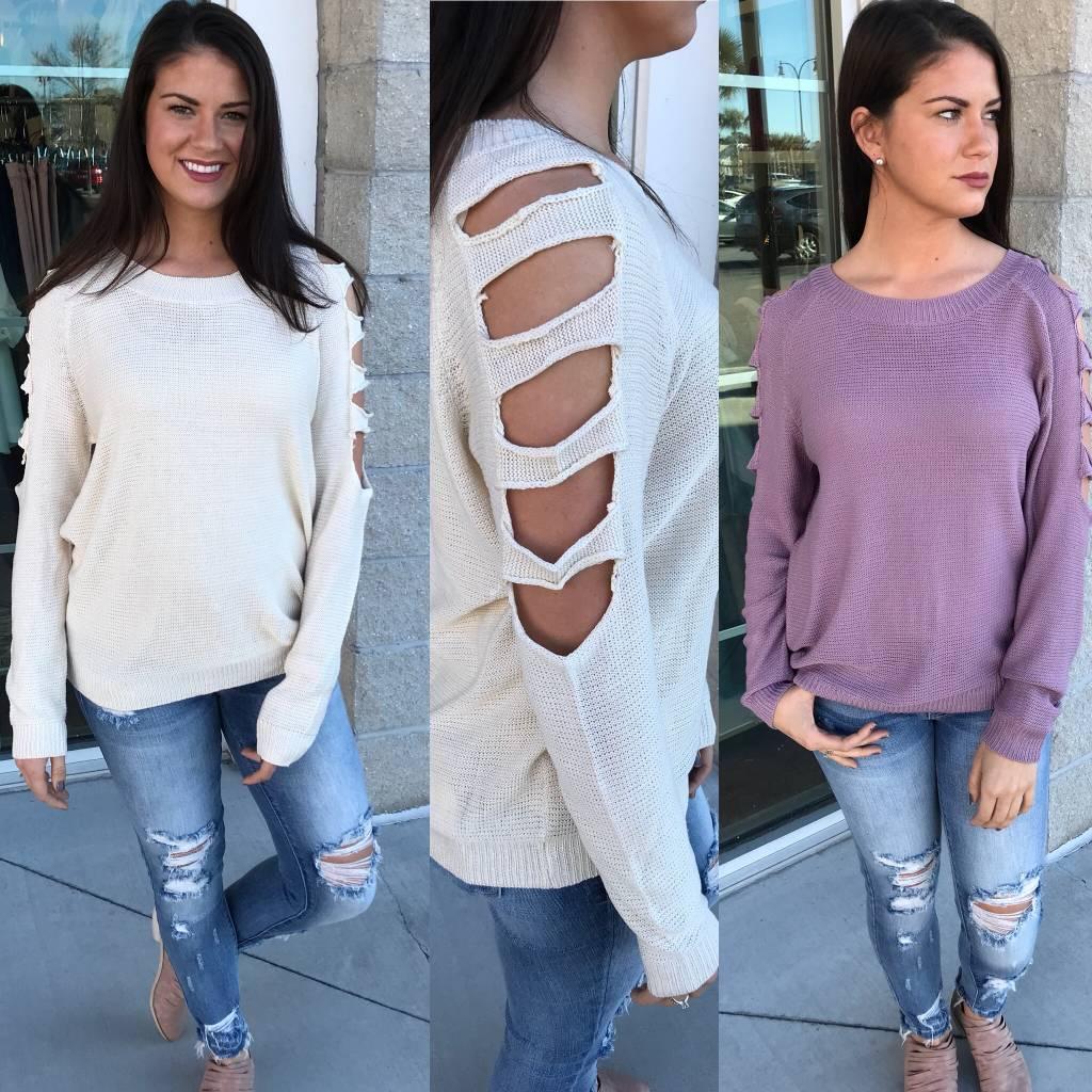 Cutout Detail Sweater