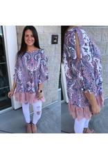 Paisley Print Tunic - Pink