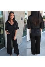 Jumpsuit W/Pockets - Black