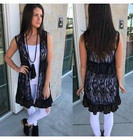 Lace Vest - Black
