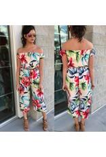 Floral Jumpsuit - Cream