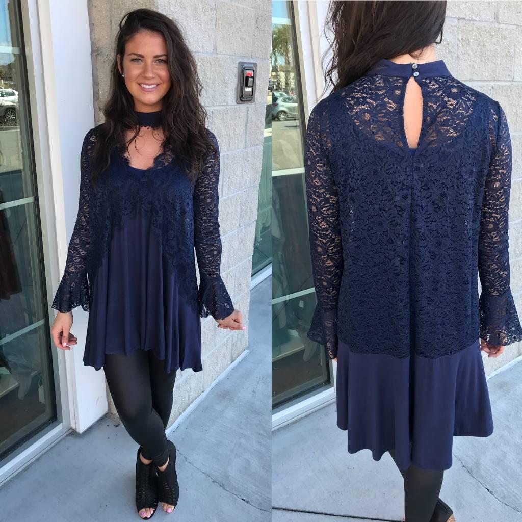 Lace Detail Tunic Dress
