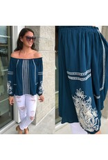 Embroidery Deatil Top - Teal