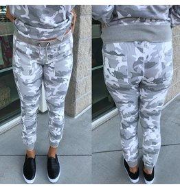 Camo Jogger Pants - Grey