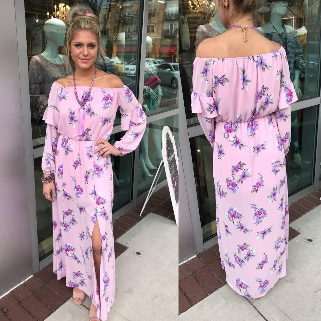 Floral Maxi Dress - Pink