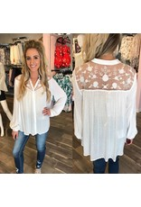 Lace Detail Blouse - Ivory