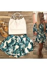 Tropical Print Shorts - Teal