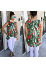 Banana Leaf Top - Red