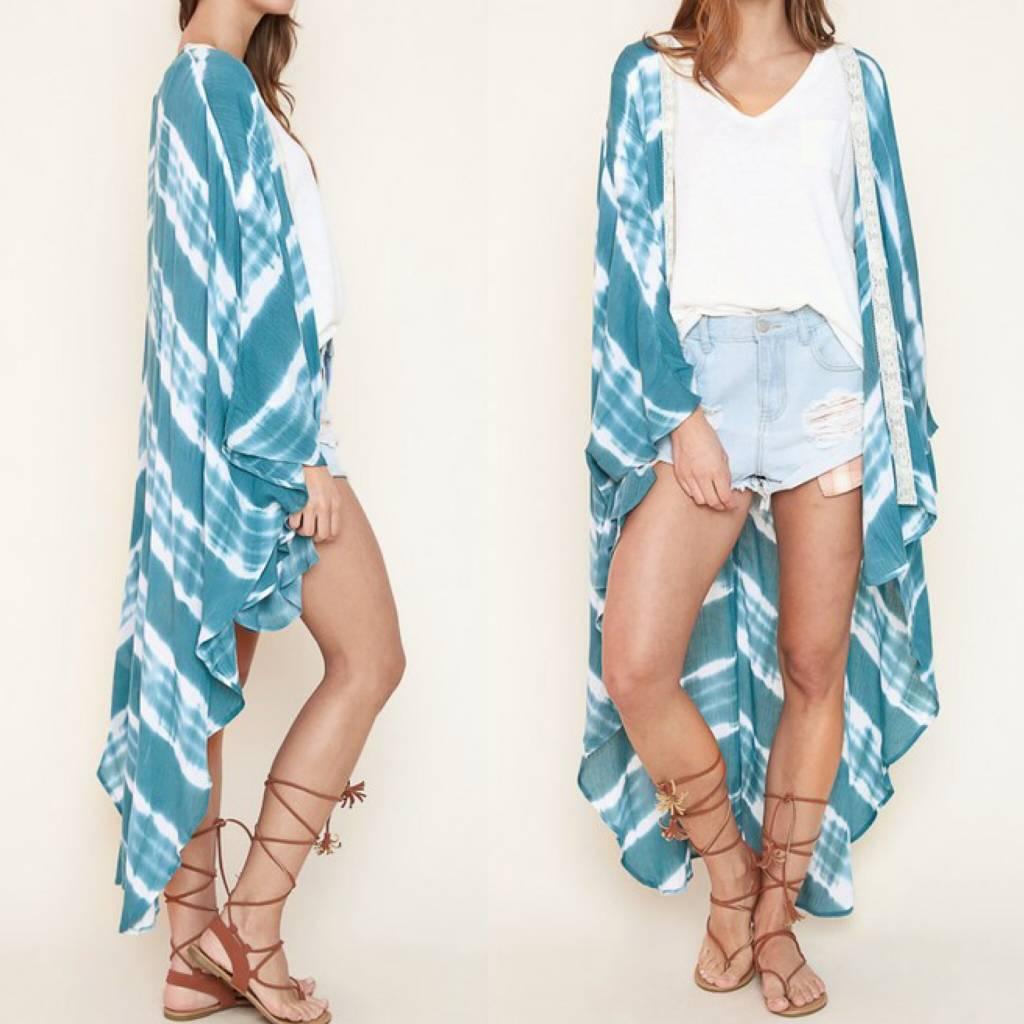 Tie Dye Kimono - Jade