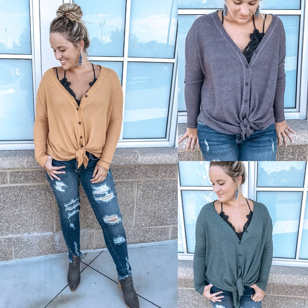 Thermal Button Down Top