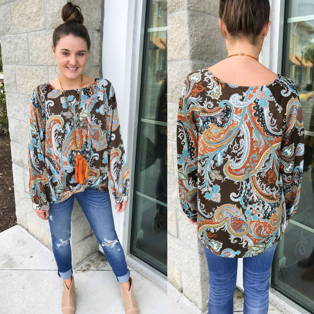 Paisley Knotted Top - Bronze