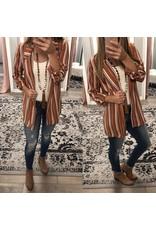 Striped Blazer - Rust