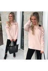 Crochet Detail Sweater - Peach