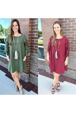 Lace Crochet Sleeves Dress