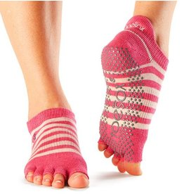 ToeSox ToeSox Low Rise Half Toe Grip Socks