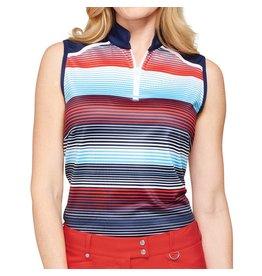 GG Blue GG Blue Serena Stripe Mock