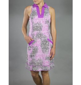 Jofit Jofit Wide Placket Golf Dress Lotus Pixel