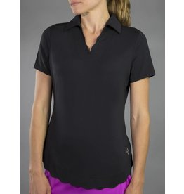 Jofit Jofit Scallop SS Polo Black