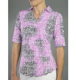 Jofit Jofit Scallop Half Sleeve Polo Lotus Pixel