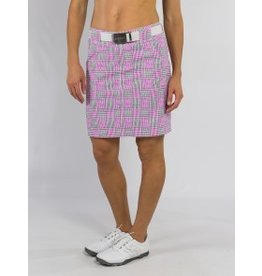 Jofit Jofit Belted Golf Skort Sangria Plaid