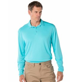 IBKul IBKul Solid Long Sleeve Polo Turquoise