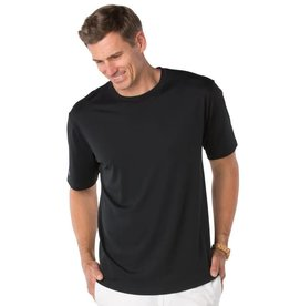 IBKul IBKul Solid Short Sleeve Crew Black