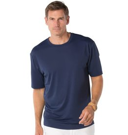 IBKul IBKul Solid Short Sleeve Crew Navy
