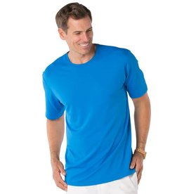 IBKul IBKul Solid Short Sleeve Crew Royal