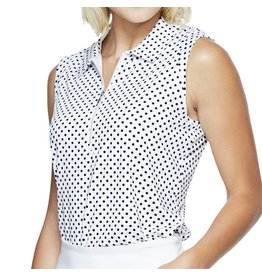GG Blue GG Blue Katy Sleeveless Polo Navy Dot