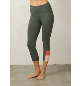prAna prAna Borra Pocket Capri Forest Heather Stripe