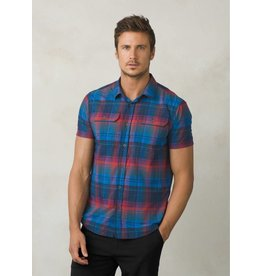 prAna prAna Cayman Plaid Short Sleeve Island Blue